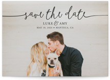 This is a black save the date by Christine Taylor called Pretty Love with standard printing on signature in grand.