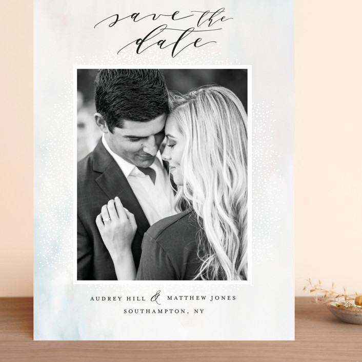 """""""Devotion"""" - Grand Save The Date Cards in Noir by Nicoletta Savod."""