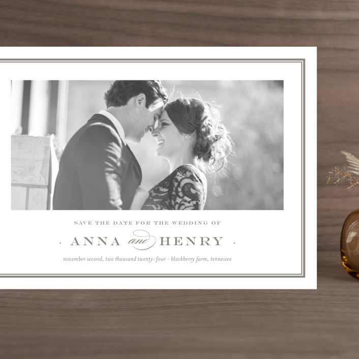 """""""Field"""" - Grand Save The Date Cards in Umber by Toast & Laurel."""