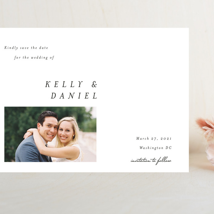 """Lagom"" - Grand Save The Date Cards in Ivory by lulu and isabelle."