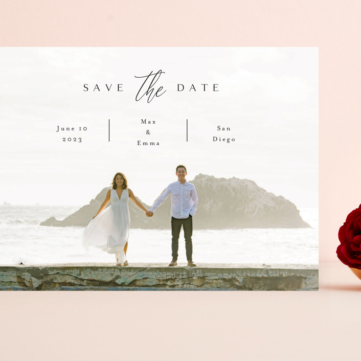 """""""the announcement"""" - Grand Save The Date Cards in Onyx by Kasia Labocki."""