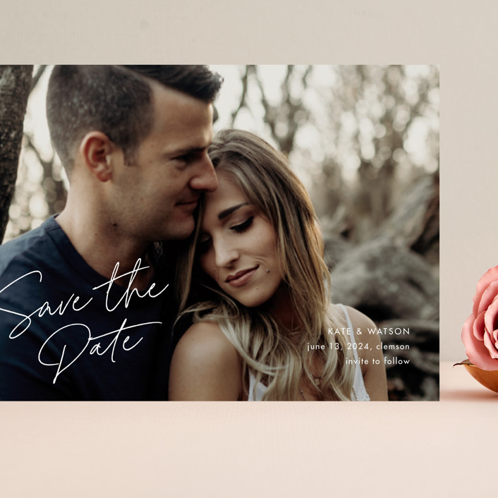 """""""Heartfelt"""" - Grand Save The Date Cards in Canvas by Stacey Meacham."""