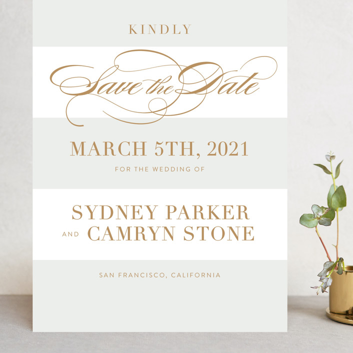 """""""Fashion District"""" - Grand Save The Date Cards in Black Tie by Jill Means."""