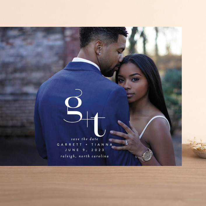 """""""Winslow"""" - Grand Save The Date Cards in Pearl by Itsy Belle Studio."""
