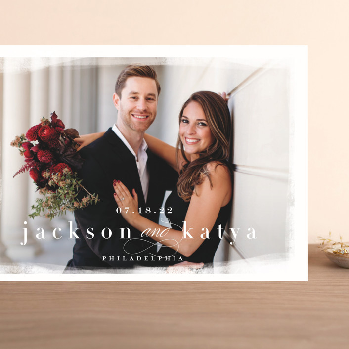 """""""bollicine"""" - Grand Save The Date Cards in Marshmallow by chocomocacino."""