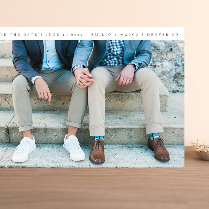 """""""Forevermore"""" - Grand Save The Date Cards in Ebony by Angela Thompson."""