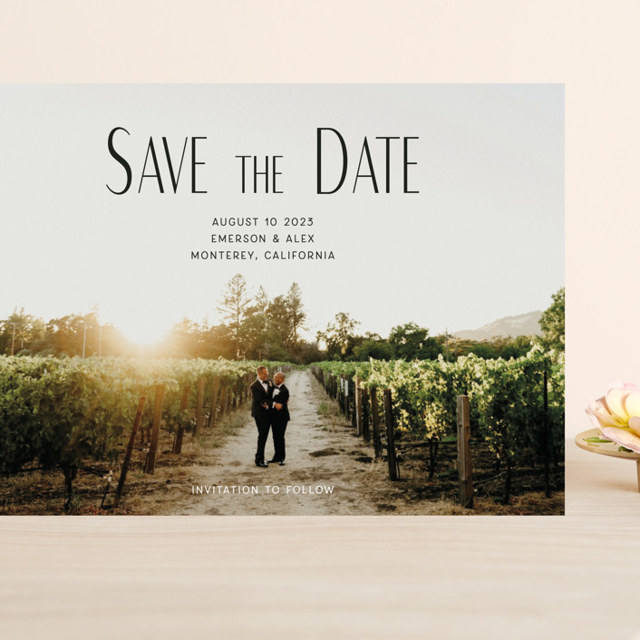 """""""it's our turn"""" - Grand Save The Date Cards in Noir by frances."""