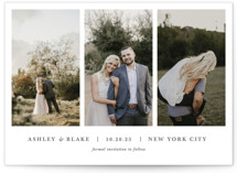 This is a grey save the date by Jula Paper Co. called maybe im amazed with standard printing on signature in grand.
