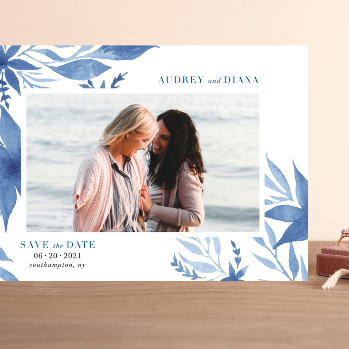 """""""Destiny"""" - Grand Save The Date Cards in Cobalt by Nicoletta Savod."""