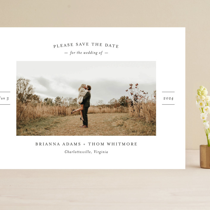 """""""More Than a Crush"""" - Grand Save The Date Cards in Ebony by Ann Gardner."""