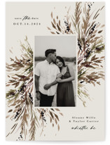 This is a brown save the date by Kate Ahn called Wildflower Bouquet with standard printing on recycled in grand.