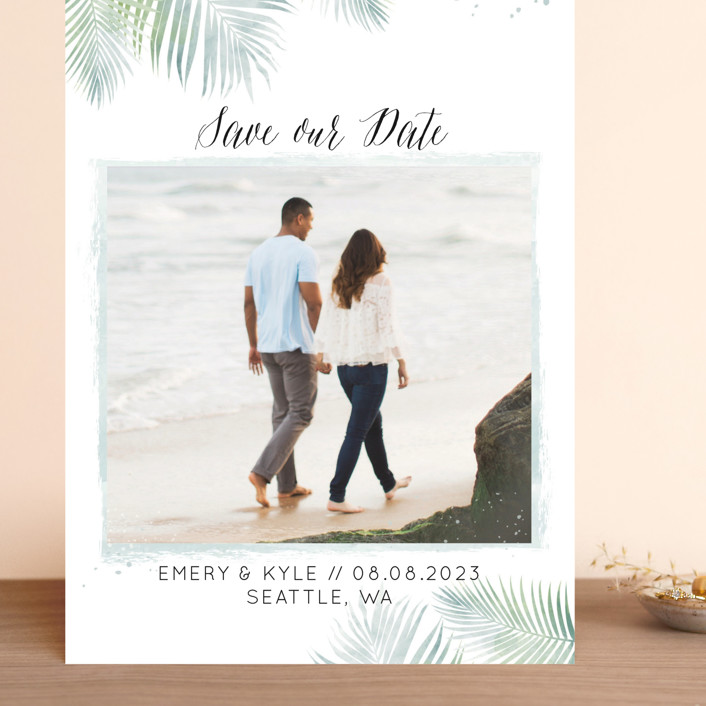 """""""Sunny Wedding"""" - Grand Save The Date Cards in Seafoam by My Splendid Summer."""