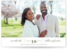 This is a green save the date by Eric Clegg called Always with standard printing on smooth signature in grand.