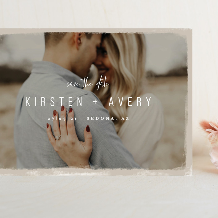 """""""Kindred"""" - Grand Save The Date Cards in Nutmeg by Melissa Egan of Pistols."""