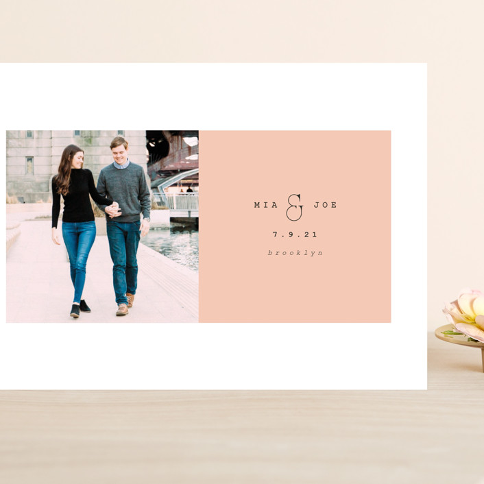 """""""Young love"""" - Grand Save The Date Cards in Blush by Kanika Mathur."""