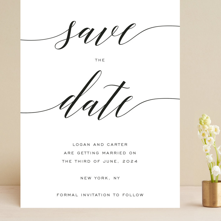 """Someone Like You"" - Grand Save The Date Cards in Pearl by Design Lotus."