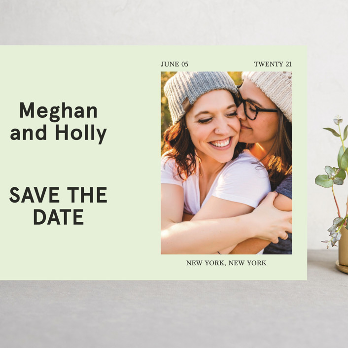 """Booklet"" - Grand Save The Date Cards in Fern by Jack Knoebber."