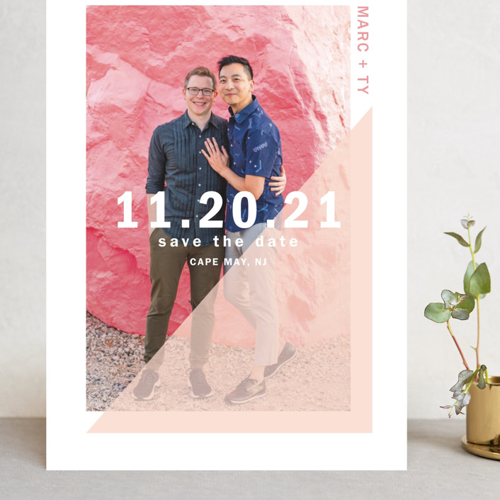"""""""uptick"""" - Grand Save The Date Cards in Ballet by Robin Ott."""