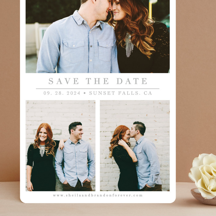 """""""The Simple Things"""" - Grand Save The Date Cards in Cement by Giselle Zimmerman."""