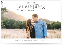 This is a grey save the date by Kasia Labocki called The Adventure with standard printing on smooth signature in grand.