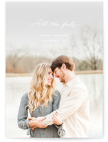 This is a colorful save the date by Chandler Lettin called all the feels with standard printing on smooth signature in grand.