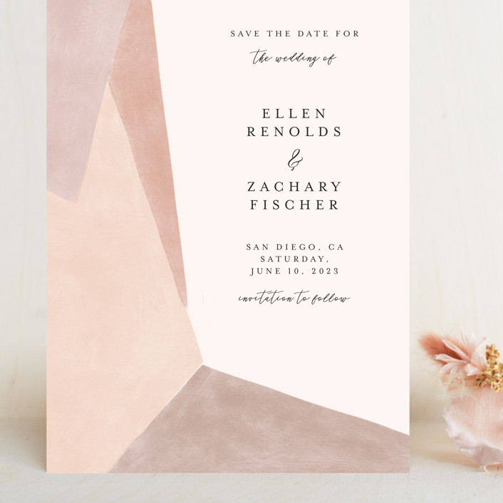 """""""Sand Shapes"""" - Grand Save The Date Cards in Desert by Inkblot Design."""