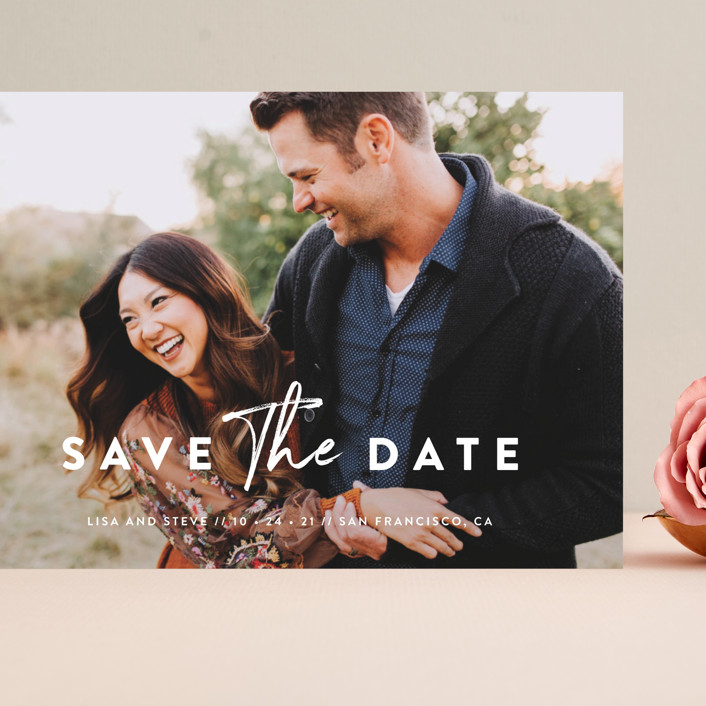 """Modern Classic"" - Grand Save The Date Cards in Porcelain by Chryssi Tsoupanarias."