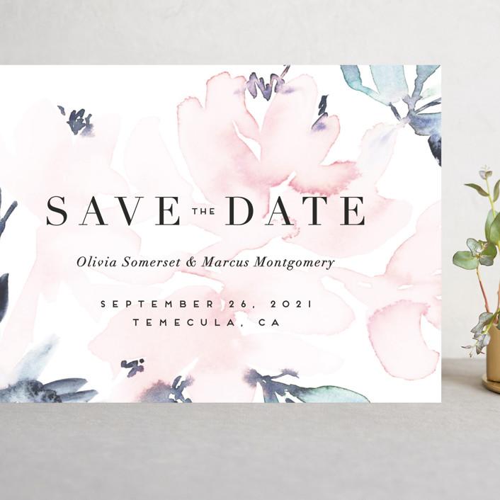 """""""Florista Modernista"""" - Grand Save The Date Cards in Azalea by Petra Kern."""