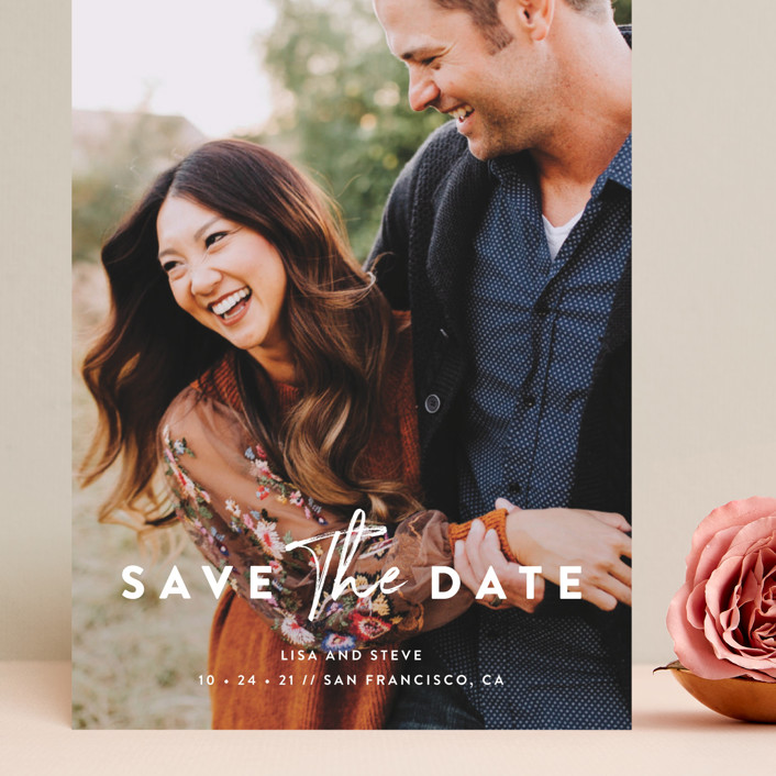 """""""Modern Classic"""" - Grand Save The Date Cards in Porcelain by Chryssi Tsoupanarias."""