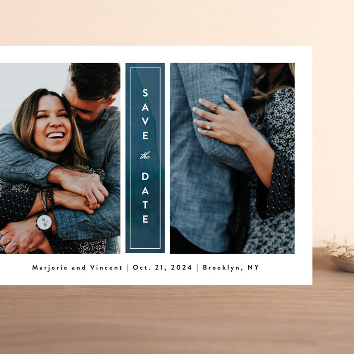 """Romantic Columns"" - Grand Save The Date Cards in Dusty by Jessica Ogden."