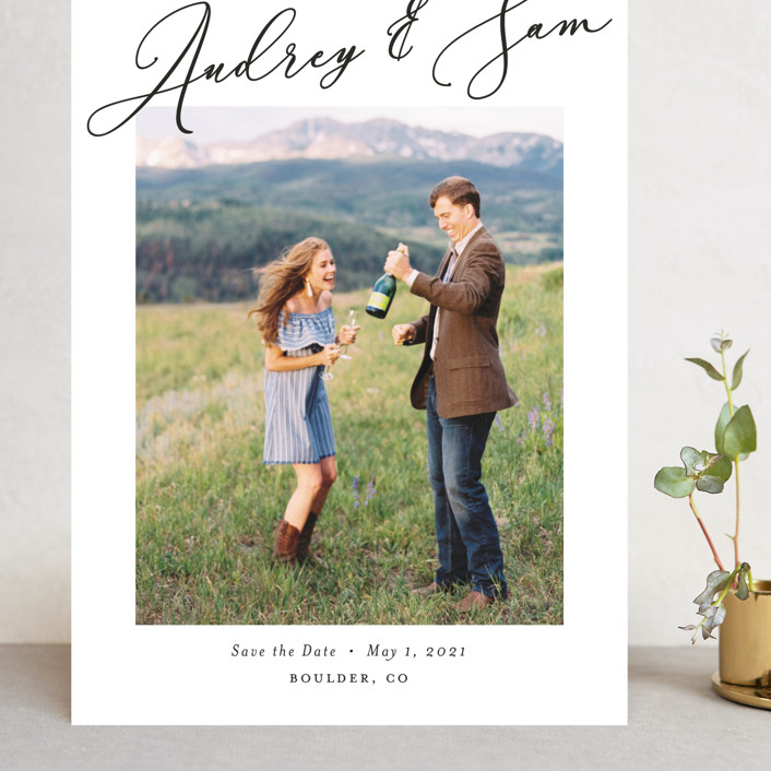 """""""delicacy"""" - Grand Save The Date Cards in Pearl by Nicoletta Savod."""