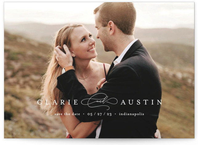 Classic Line Grand Save the Date Cards