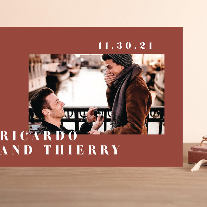"""""""Our Names"""" - Grand Save The Date Cards in Rust by Kanika Mathur."""