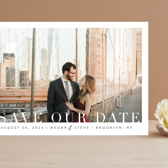 """Simple Elegance"" - Grand Save The Date Cards in Clouds by Kasia Labocki."
