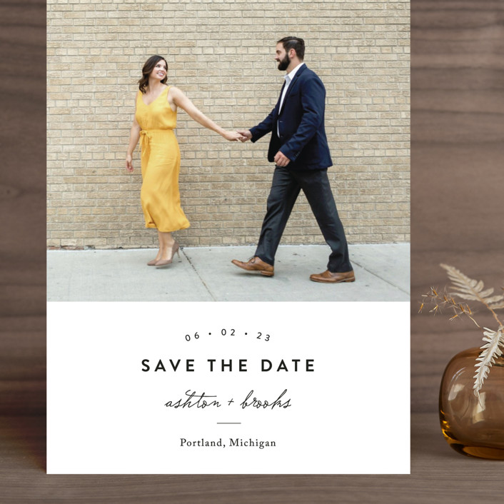 """This Modern Love"" - Grand Save The Date Cards in Onyx by Chryssi Tsoupanarias."