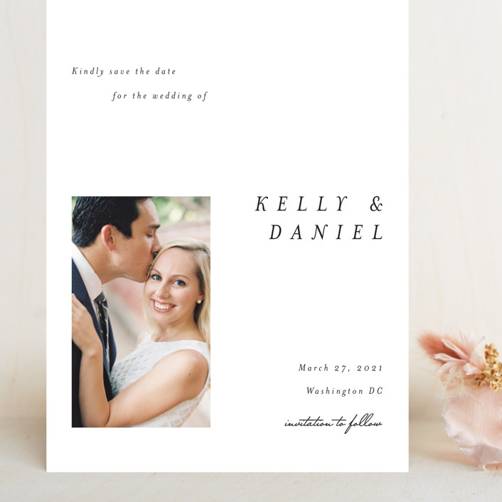 """""""Lagom"""" - Grand Save The Date Cards in Ivory by lulu and isabelle."""