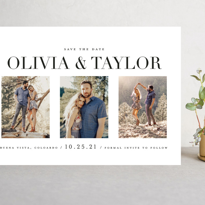 """""""Always & Forever"""" - Grand Save The Date Cards in Moonstone by Brooke Chandler."""