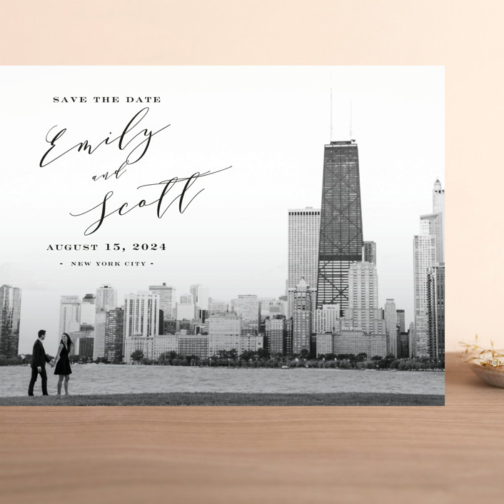 """""""Classic Save the Date"""" - Grand Save The Date Cards in Midnight by Nicoletta Savod."""