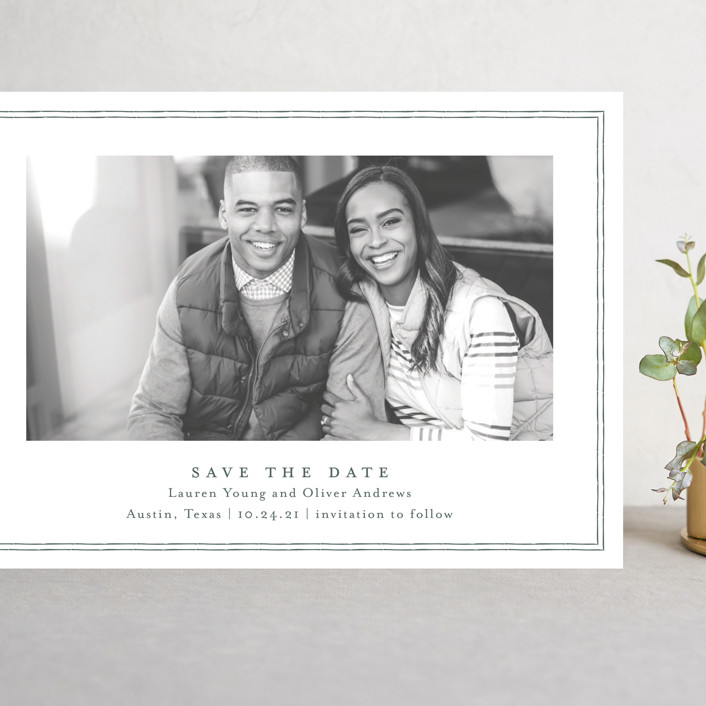 """Benson"" - Grand Save The Date Cards in Forest by Toast & Laurel."