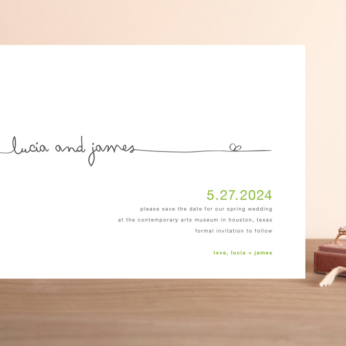"""""""The Happy Couple"""" - Grand Save The Date Cards in Tangerine by R studio."""
