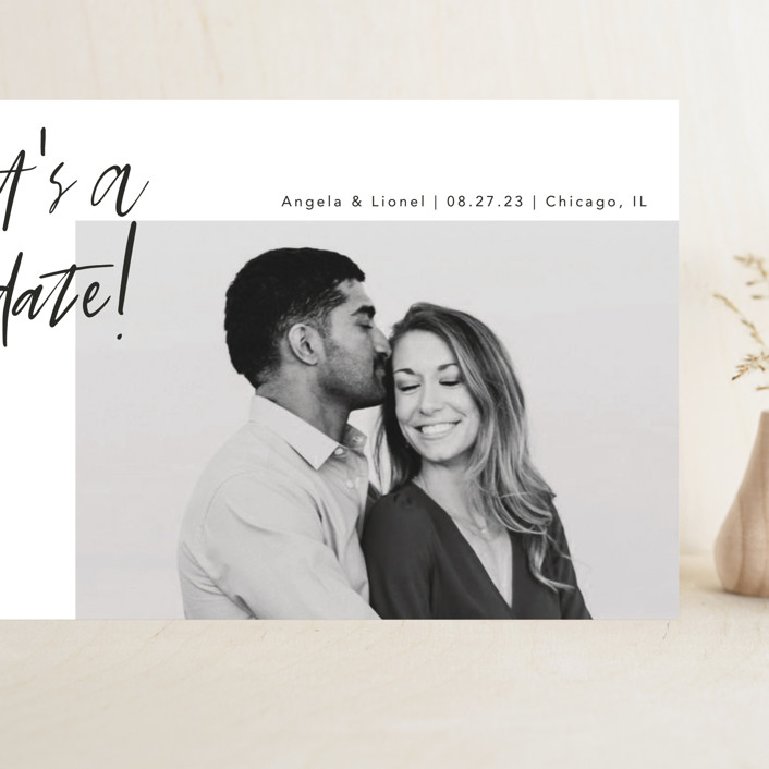 """""""A Date"""" - Grand Save The Date Cards in Ink by lulu and isabelle."""