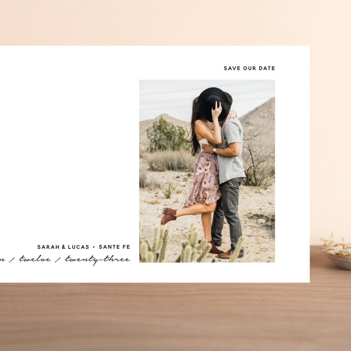 """""""Modern Mood"""" - Grand Save The Date Cards in Snow by Susan Brown."""