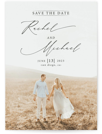 And she said yes Grand Save the Date Cards