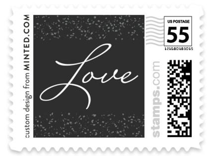 Glittered Wedding Frame Wedding Stamps