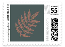 Lined Leaves Wedding Stamps
