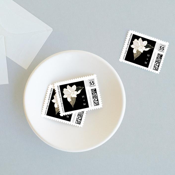 """Mod Kimono"" - Wedding Stamps in Ebony by Kaydi Bishop."