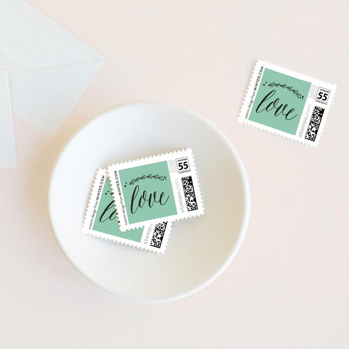 """Always"" - Preppy Wedding Stamps in Mint by Susan Brown."