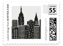 This is a grey wedding stamp by Hooray Creative called Big City - New York City with standard printing on adhesive postage paper in stamp.