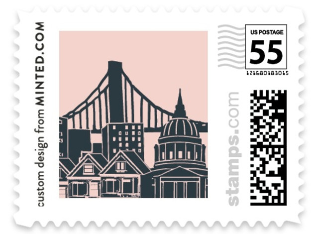 Big City - San Francisco Wedding Stamps