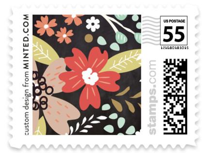 Chalkboard Floral Wedding Stamps